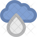 Cloud And Drop Icon