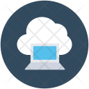 Cloud Connectivity Laptop Icon
