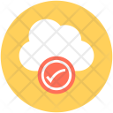 Cloud Checkmark Acceptance Icon