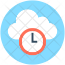 Cloud Clock Computing Icon