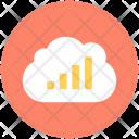 Cloud Graph Bar Icon