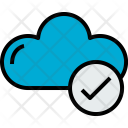 Cloud Check Cloudy Icon