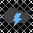 Cloud Rain Thunder Icon