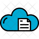 Cloud Document Cloudy Icon