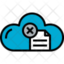 Cloud Document X Icon