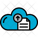 Cloud Document Arrow Icon