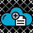 Cloud Document Add Icon