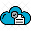 Cloud Document Check Icon