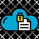 Cloud Document Lock Icon