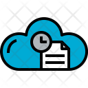 Cloud Document Time Icon