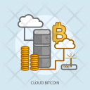 Cloud Bitcoin Business Icon