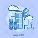 Cloud Bitcoin Finance Icon