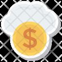 Cloud Computing Coin Icon