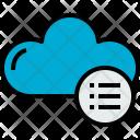 Cloud List Cloudy Icon