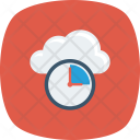 Cloud Clock Database Icon