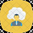 Cloud User Communication Icon