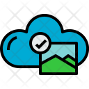 Cloud Picture Check Icon