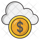 Cloud Dollar Database Icon