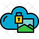 Cloud Picture Lock Icon