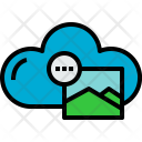 Cloud Picture Process Icon