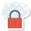 Cloud Key Lock Icon