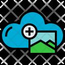 Cloud Picture Add Icon