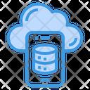 Cloud Data Smartphone Icon