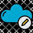 Cloud Write Cloudy Icon