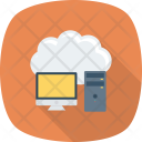 Cloud Computer Storage Icon
