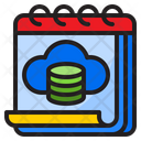Cloud Database Server Icon