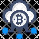 Cloud Bitcoin Cloud Bitcoin Cloud Network Icon