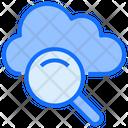Cloud Computing Magnify Glass Icon