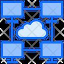 Cloud Computing Sharing Icon