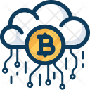 Cloud Blockchain Cryptocurrency Icon