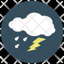 Lightening Rain Cloud Icon