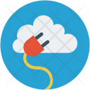 Cloud Cord Power Icon