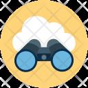 Cloud Binocular Search Icon