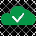 Cloud Green Ok Icon