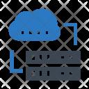 Cloud Storage Database Icon