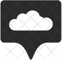 Cloud Tag Place Icon