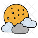 Cloud Moon Sky Icon
