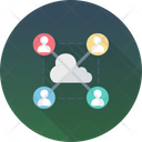Cloud Outsource Cloud User Icon