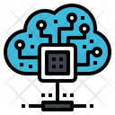 Cloud Server Processor Icon