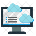 Cloud Data Analytics Icon