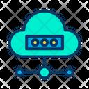 Online Data Online Data Storage Cloud Connection Icon