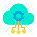 Artificial Cloud Intelligence Icon