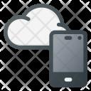 Cloud Syncronize Phone Icon