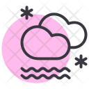 Cloud Mist Snow Icon