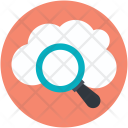 Cloud Magnifying Search Icon