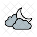 Cloud And Moon Icon